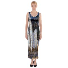 Sidney Travel Wallpaper Fitted Maxi Dress