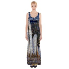 Sidney Travel Wallpaper Maxi Thigh Split Dress