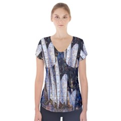 Sidney Travel Wallpaper Short Sleeve Front Detail Top