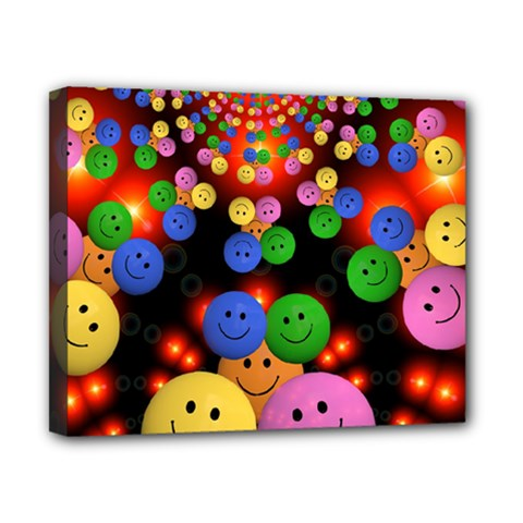 Smiley Laugh Funny Cheerful Canvas 10  x 8