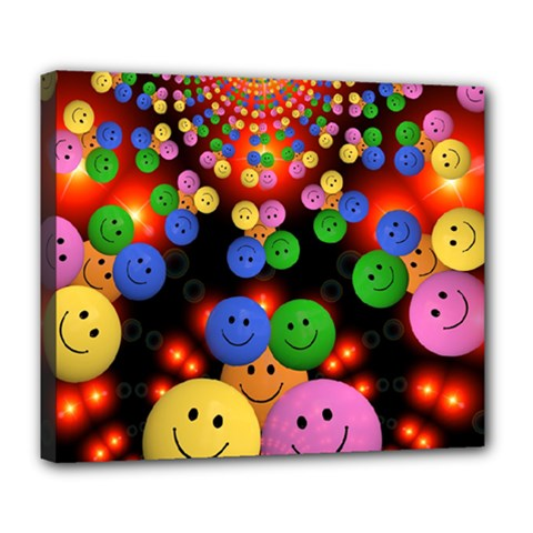 Smiley Laugh Funny Cheerful Deluxe Canvas 24  X 20