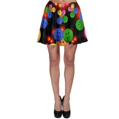 Smiley Laugh Funny Cheerful Skater Skirt