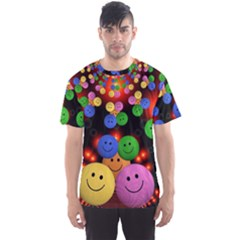 Smiley Laugh Funny Cheerful Men s Sport Mesh Tee
