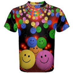 Smiley Laugh Funny Cheerful Men s Cotton Tee