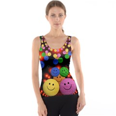 Smiley Laugh Funny Cheerful Tank Top