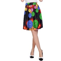 Smiley Laugh Funny Cheerful A-Line Skirt