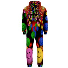 Smiley Laugh Funny Cheerful Hooded Jumpsuit (men)