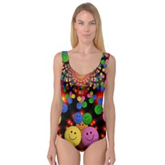 Smiley Laugh Funny Cheerful Princess Tank Leotard