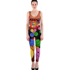 Smiley Laugh Funny Cheerful Onepiece Catsuit