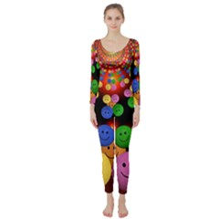 Smiley Laugh Funny Cheerful Long Sleeve Catsuit
