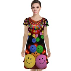 Smiley Laugh Funny Cheerful Cap Sleeve Nightdress