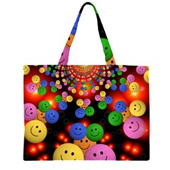 Smiley Laugh Funny Cheerful Large Tote Bag