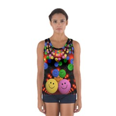 Smiley Laugh Funny Cheerful Women s Sport Tank Top