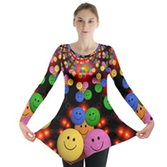 Smiley Laugh Funny Cheerful Long Sleeve Tunic