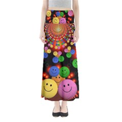 Smiley Laugh Funny Cheerful Maxi Skirts