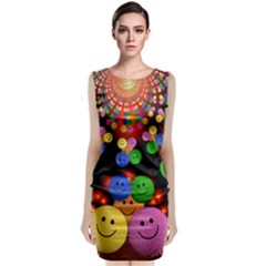 Smiley Laugh Funny Cheerful Classic Sleeveless Midi Dress