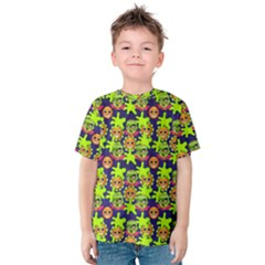 Smiley Background Smiley Grunge Kids  Cotton Tee