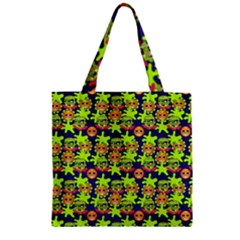 Smiley Background Smiley Grunge Zipper Grocery Tote Bag