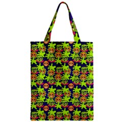 Smiley Background Smiley Grunge Zipper Classic Tote Bag