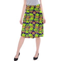 Smiley Background Smiley Grunge Midi Beach Skirt