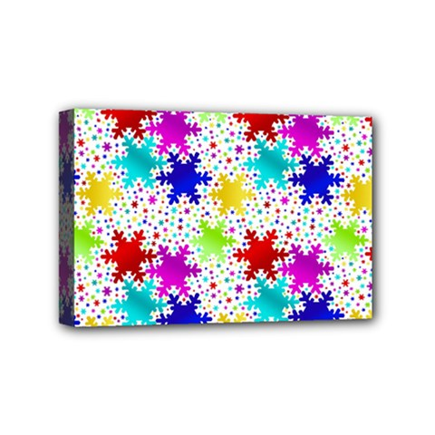 Snowflake Pattern Repeated Mini Canvas 6  X 4