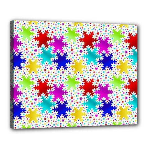 Snowflake Pattern Repeated Canvas 20  X 16