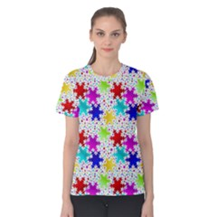 Snowflake Pattern Repeated Women s Cotton Tee