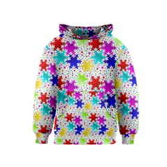 Snowflake Pattern Repeated Kids  Pullover Hoodie