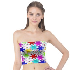 Snowflake Pattern Repeated Tube Top
