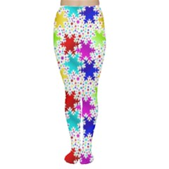 Snowflake Pattern Repeated Women s Tights