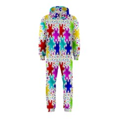 Snowflake Pattern Repeated Hooded Jumpsuit (kids)