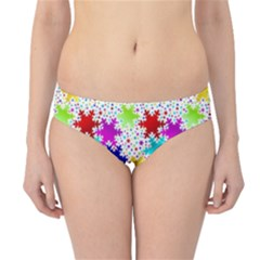 Snowflake Pattern Repeated Hipster Bikini Bottoms