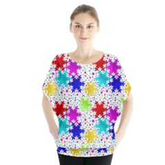 Snowflake Pattern Repeated Blouse