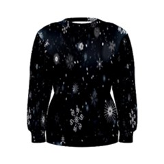 Snowflake Snow Snowing Winter Cold Women s Sweatshirt