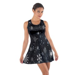 Snowflake Snow Snowing Winter Cold Cotton Racerback Dress