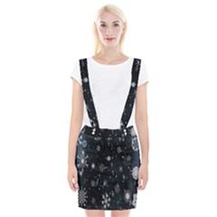 Snowflake Snow Snowing Winter Cold Suspender Skirt