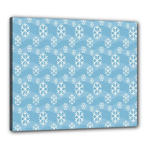 Snowflakes Winter Christmas Canvas 24  x 20