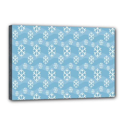Snowflakes Winter Christmas Canvas 18  X 12