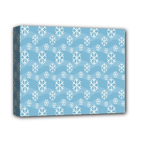 Snowflakes Winter Christmas Deluxe Canvas 14  X 11