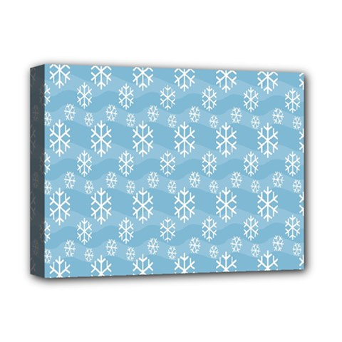 Snowflakes Winter Christmas Deluxe Canvas 16  x 12