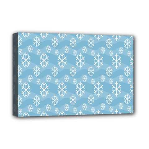 Snowflakes Winter Christmas Deluxe Canvas 18  x 12