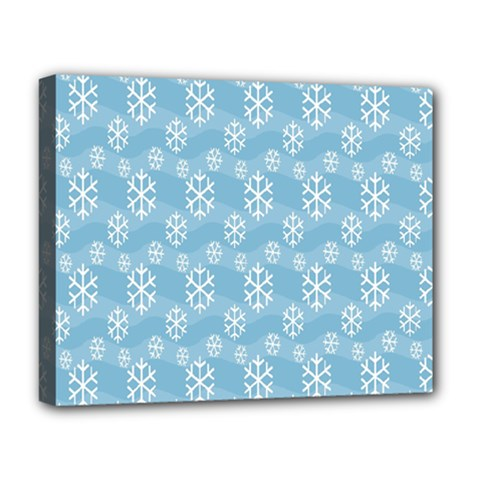 Snowflakes Winter Christmas Deluxe Canvas 20  x 16