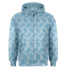 Snowflakes Winter Christmas Men s Zipper Hoodie