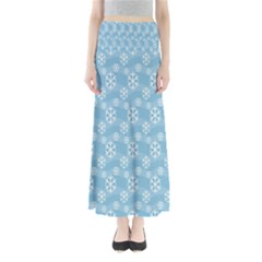 Snowflakes Winter Christmas Maxi Skirts
