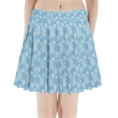 Snowflakes Winter Christmas Pleated Mini Skirt