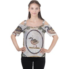 Sousse Mosaic Xenia Patterns Women s Cutout Shoulder Tee