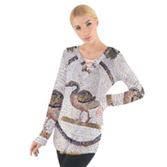 Sousse Mosaic Xenia Patterns Women s Tie Up Tee