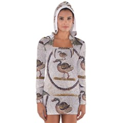 Sousse Mosaic Xenia Patterns Women s Long Sleeve Hooded T-shirt