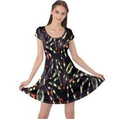 Spiders Colorful Cap Sleeve Dresses