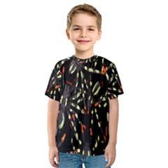 Spiders Colorful Kids  Sport Mesh Tee